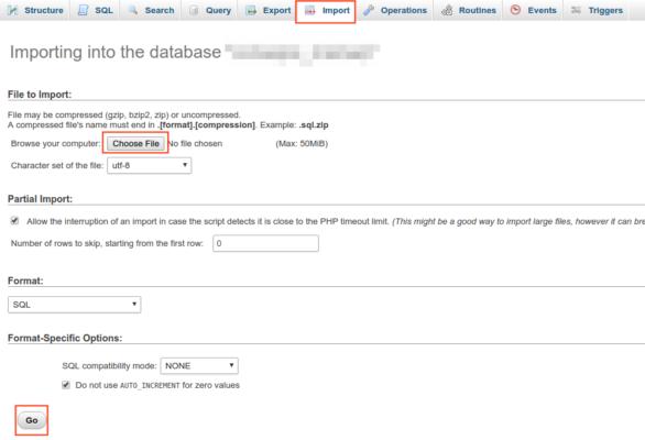 Importar Base de Datos