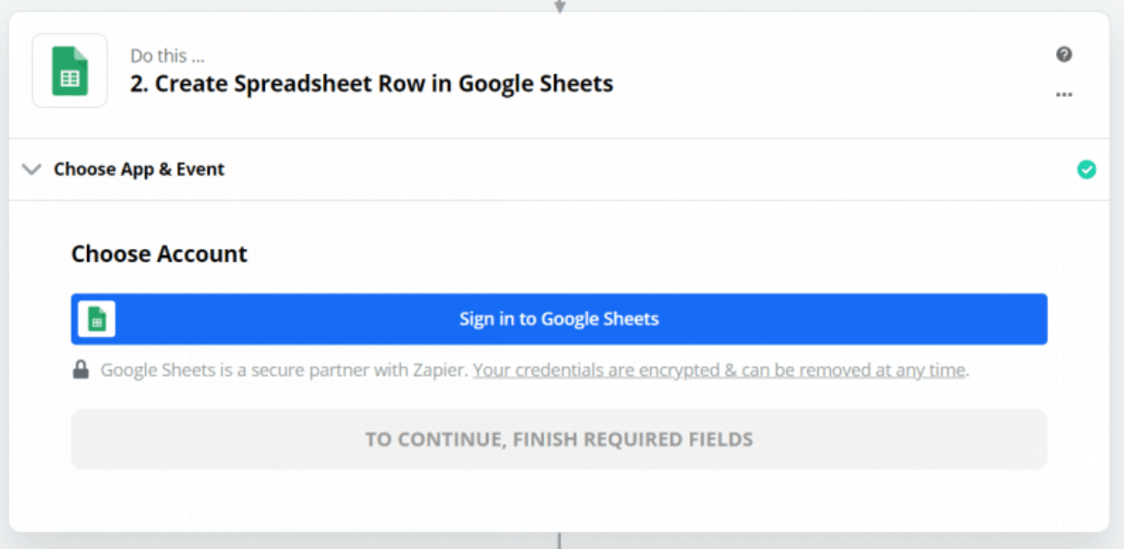 Zapier Sign In Google Sheets - Ninja Forms